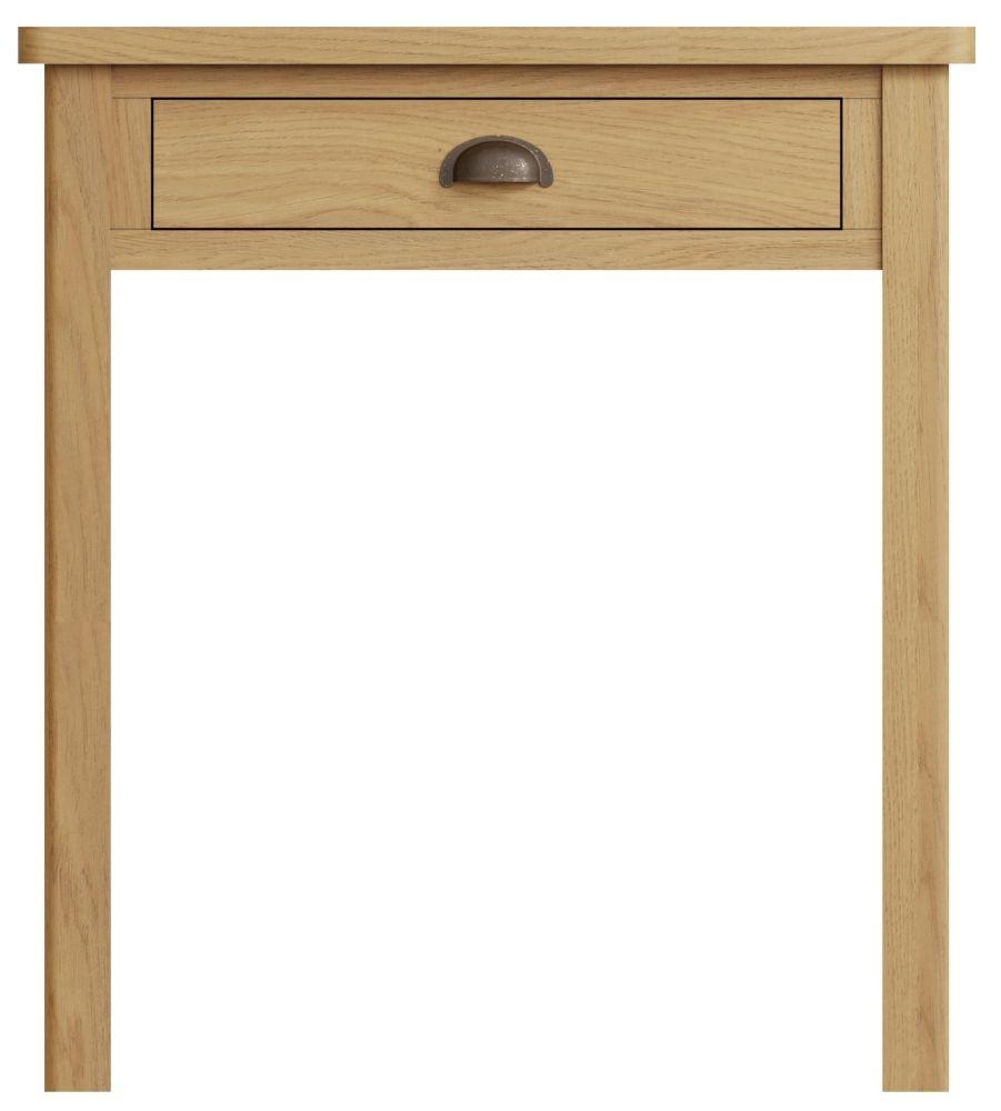 Hampton Rustic Oak 1 Drawer Dressing Table