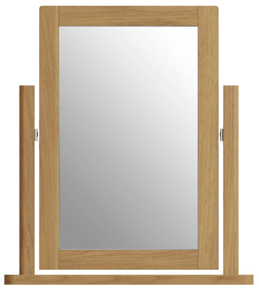 Hampton Rustic Oak Trinket Mirror