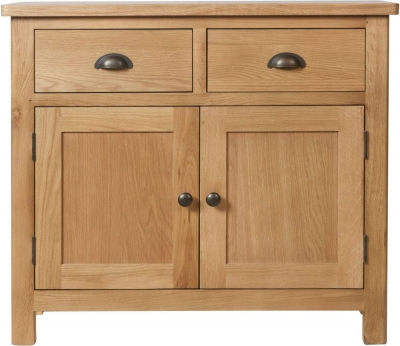 Hampton Rustic Oak 2 Door 2 Drawer Medium Sideboard