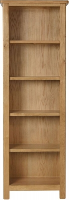 Hampton Rustic Oak Tall Bookcase