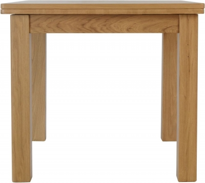 Hampton Rustic Oak Flip Top Dining Table