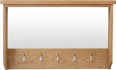 Hampton Rustic Oak Hall Bench Top