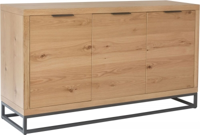 Inkster Industrial Oak and Metal 3 Door Sideboard