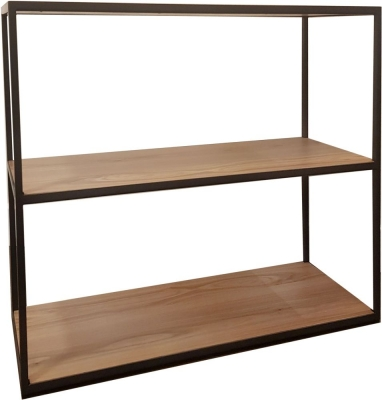 Inkster Industrial Oak and Metal Bookcase