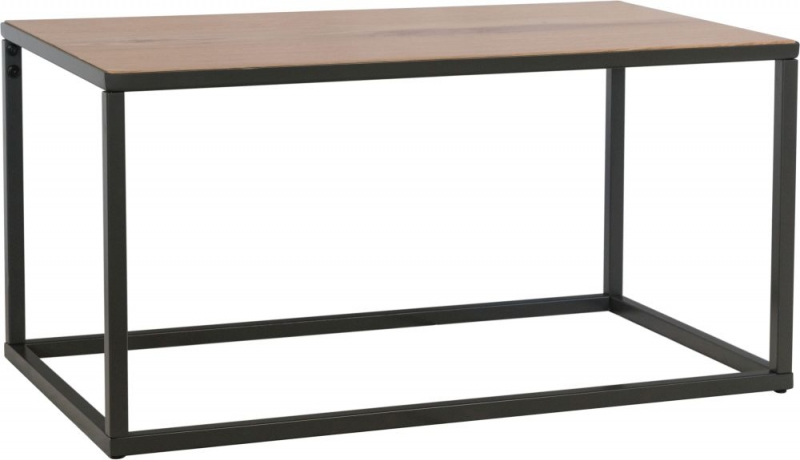 Inkster Industrial Oak and Metal Coffee Table