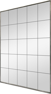 Distressed Metal Rectangular Window Mirror - 100cm x 180cm