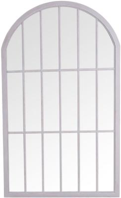Grey Arch Window Mirror - 105cm x 177cm