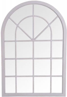 Grey Arch Window Mirror - 90cm x 135cm
