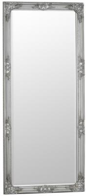 Silver Wooden Frame Rectangular Beveled Mirror - 75cm x 165cm