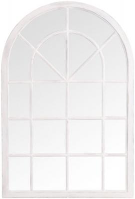 White Arch Window Mirror - 90cm x 135cm