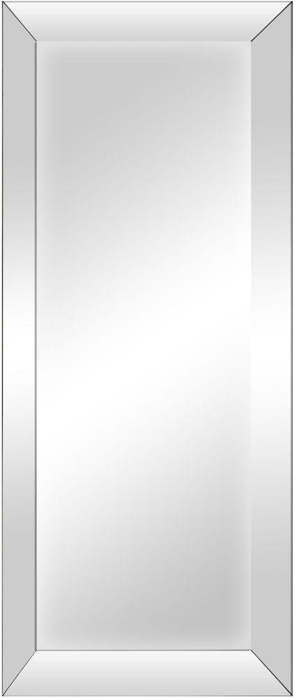 Grey Wash Bevelled Glass Rectangular Mirror - 50cm x 140cm