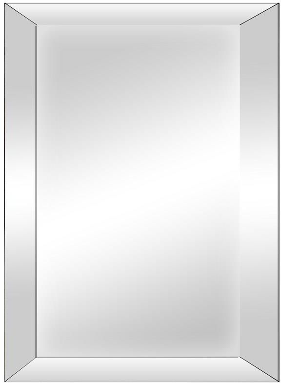 Grey Wash Bevelled Glass Rectangular Mirror - 60cm x 75cm