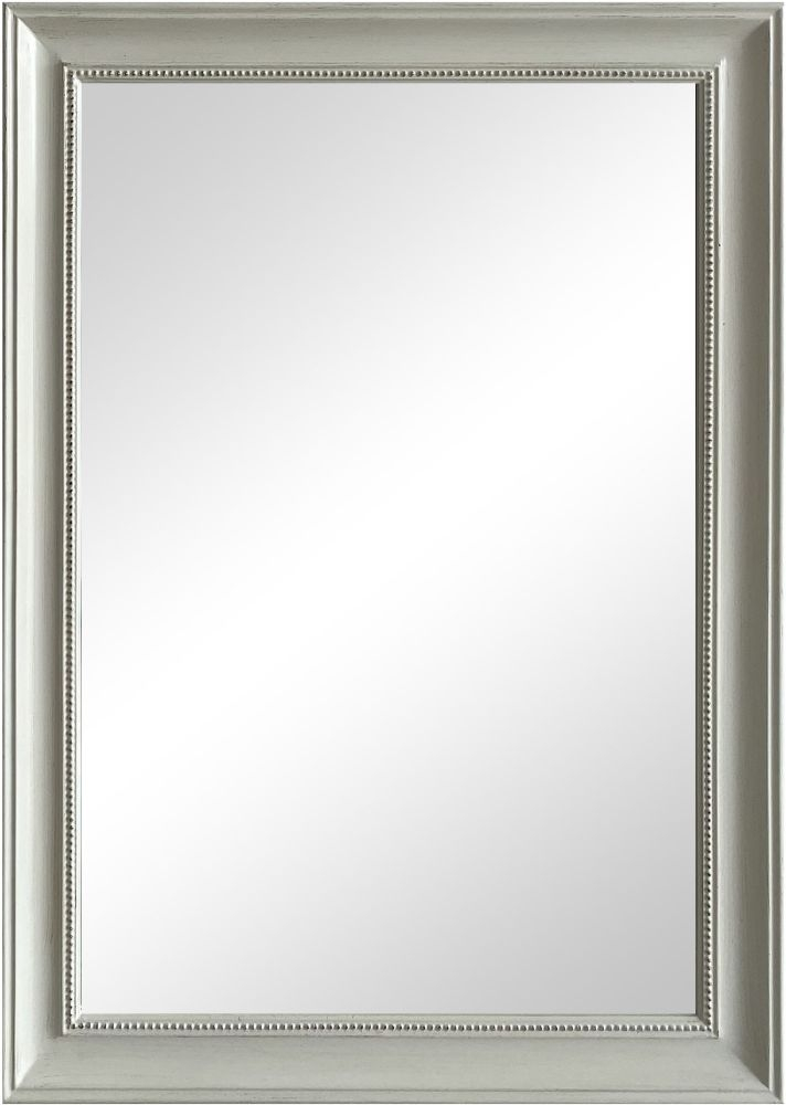 White Leaner Rectangular Mirror - 74cm x 104cm