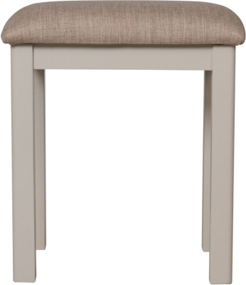 Portland Oak and Dove Grey Painted Bedroom Stool