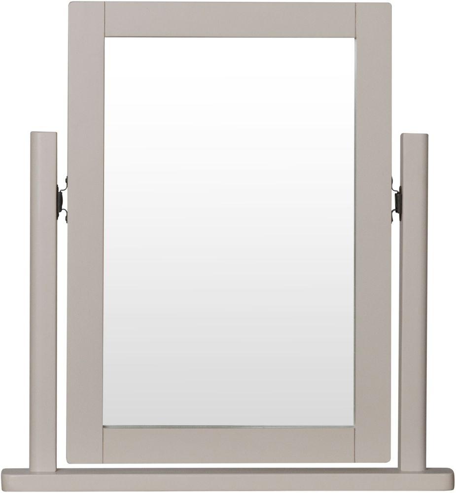 Portland Oak and Dove Grey Painted Trinket Mirror