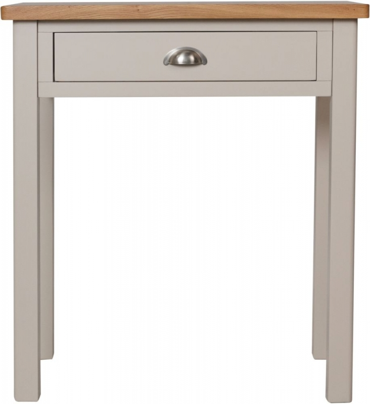 Portland Oak and Dove Grey Painted 1 Drawer Dressing Table