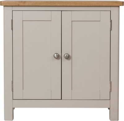 Portland Oak and Dove Grey Painted 2 Door Sideboard