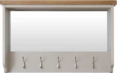 Portland Oak and Dove Grey Painted Hall Bench Top
