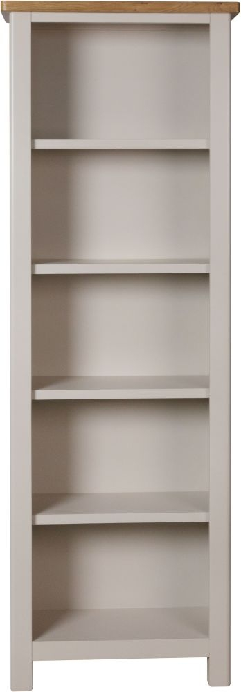 Portland Oak and Dove Grey Painted Tall Bookcase