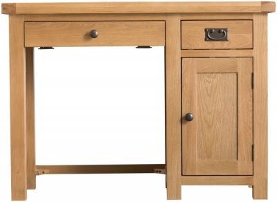 Tucson Oak 1 Door 2 Drawer Computer Desk