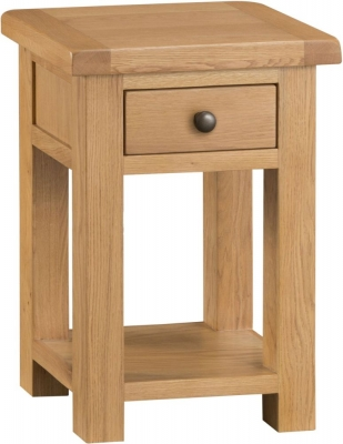 Tucson Oak 1 Drawer Side Table