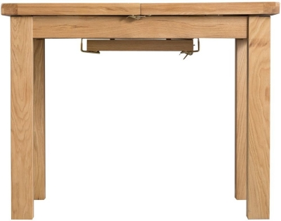 Tucson Oak 125cm Butterfly Extending Dining Table