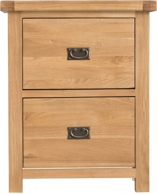 Tucson Oak 2 Drawer Filing Cabinet