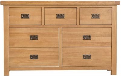 Tucson Oak 3+4 Drawer Chest