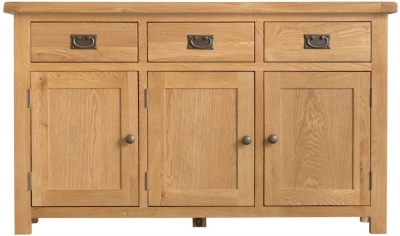 Tucson Oak 3 Door 3 Drawer Sideboard