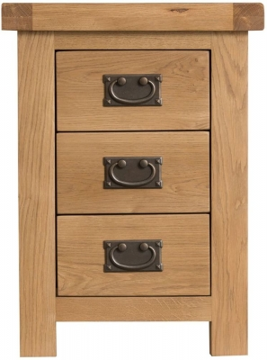 Tucson Oak 3 Drawer Bedside Cabinet