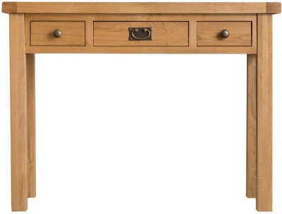Tucson Oak 3 Drawer Dressing Table