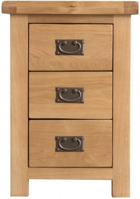 Tucson Oak 3 Drawer Large Bedside Cabinet