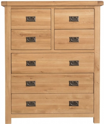 Tucson Oak 4+3 Drawer Chest