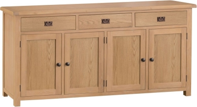 Tucson Oak 4 Door 3 Drawer Sideboard