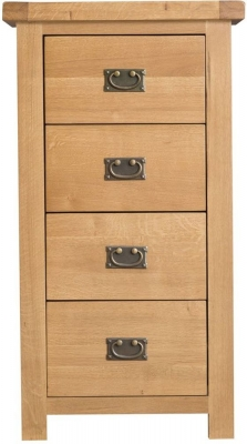 Tucson Oak 4 Drawer Tall Chest