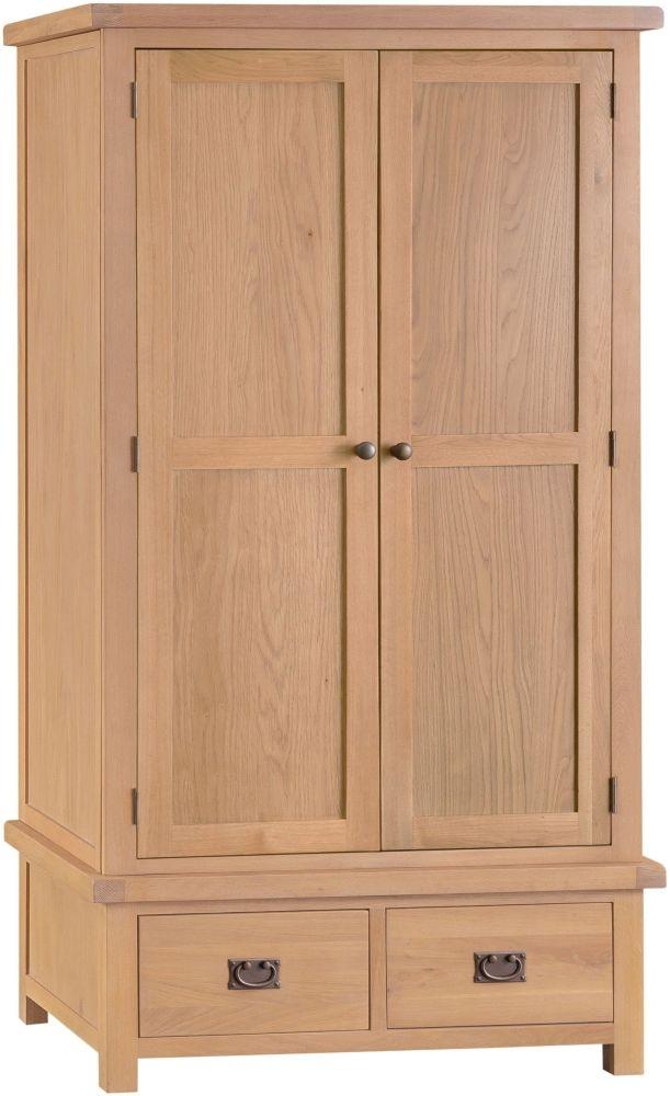 Tucson Oak 2 Door 2 Drawer Wardrobe