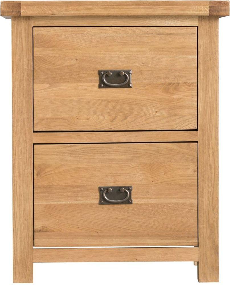 Tucson Oak 2 Drawer Filing Cabinet