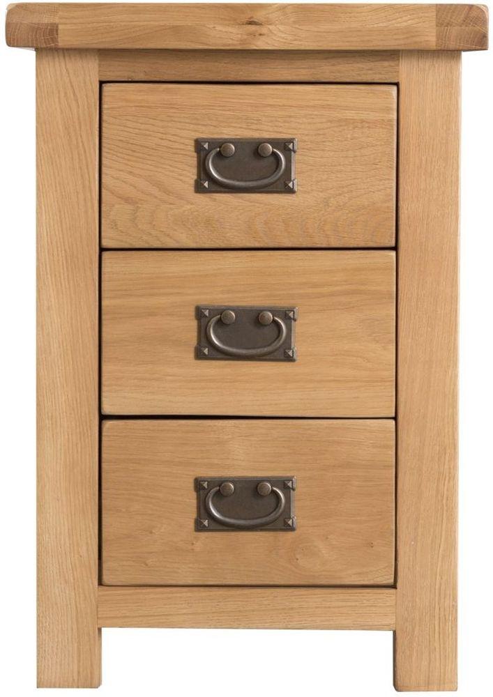 Tucson Oak 3 Drawer Large Bedside Cabinet