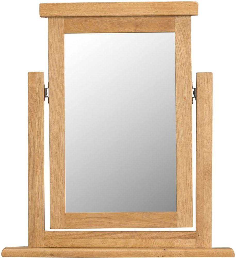 Tucson Oak Rectangular Trinket Mirror