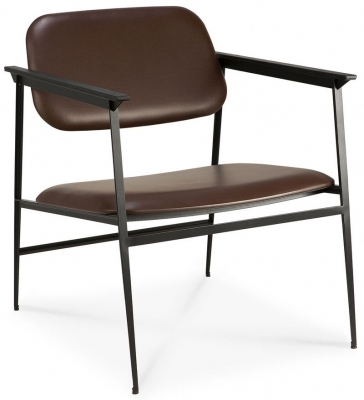 Ethnicraft DC Chocolate Leather Lounge Chair