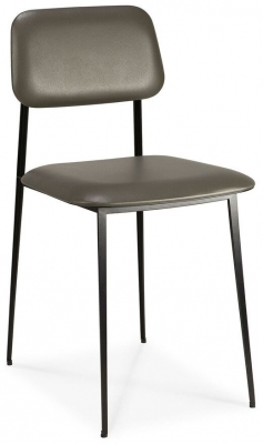 Ethnicraft DC Olive Green Leather Dining Chair (Pair)