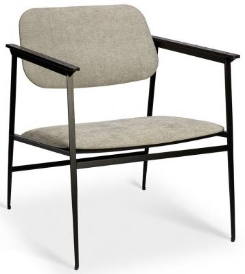 Ethnicraft DC Light Grey Lounge Chair