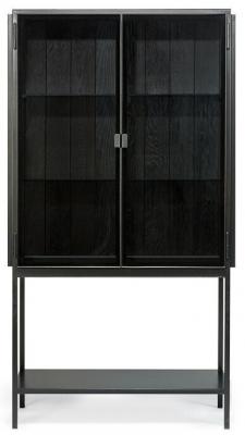 Ethnicraft Anders Black 2 Door Storage Cupboard