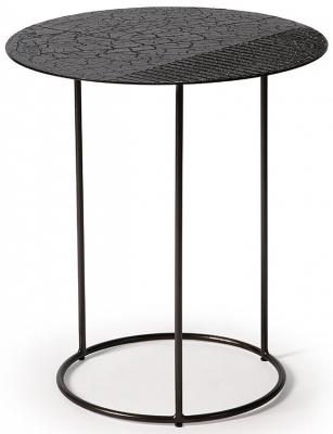 Ethnicraft Celeste Lava Linear Black Side Table