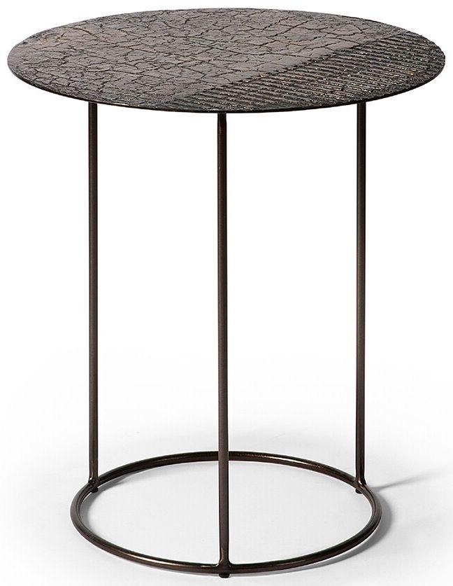 Ethnicraft Celeste Lava Linear Whisky Side Table