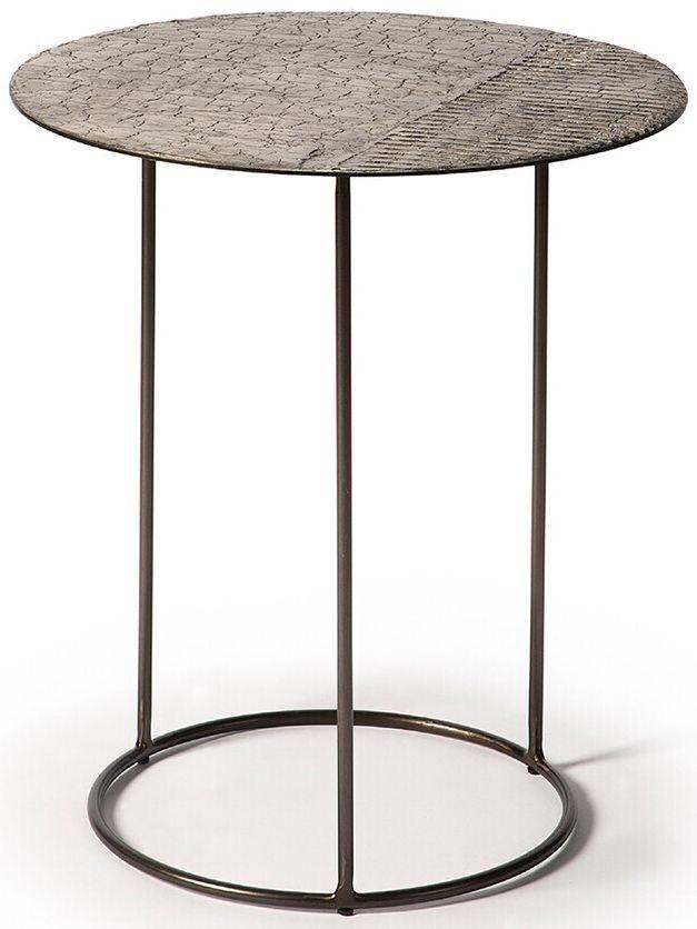 Ethnicraft Celeste Lava Linear Taupe Side Table