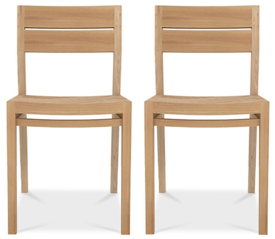 Ethnicraft Oak Ex 1 Dining Chair (Pair)