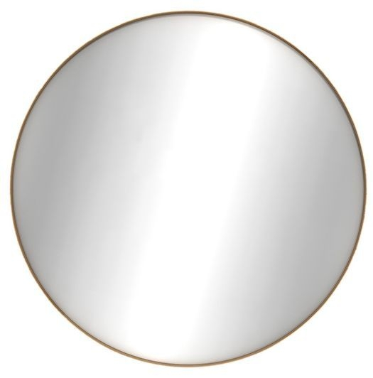 Ethnicraft Oak Layers Large Round Wall Mirror