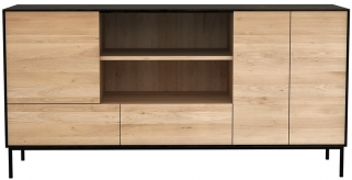 Ethnicraft Oak Blackbird 3 Door 2 Drawer Sideboard