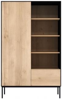 Ethnicraft Oak Blackbird 1 Door 1 Drawer Storage Cupboard